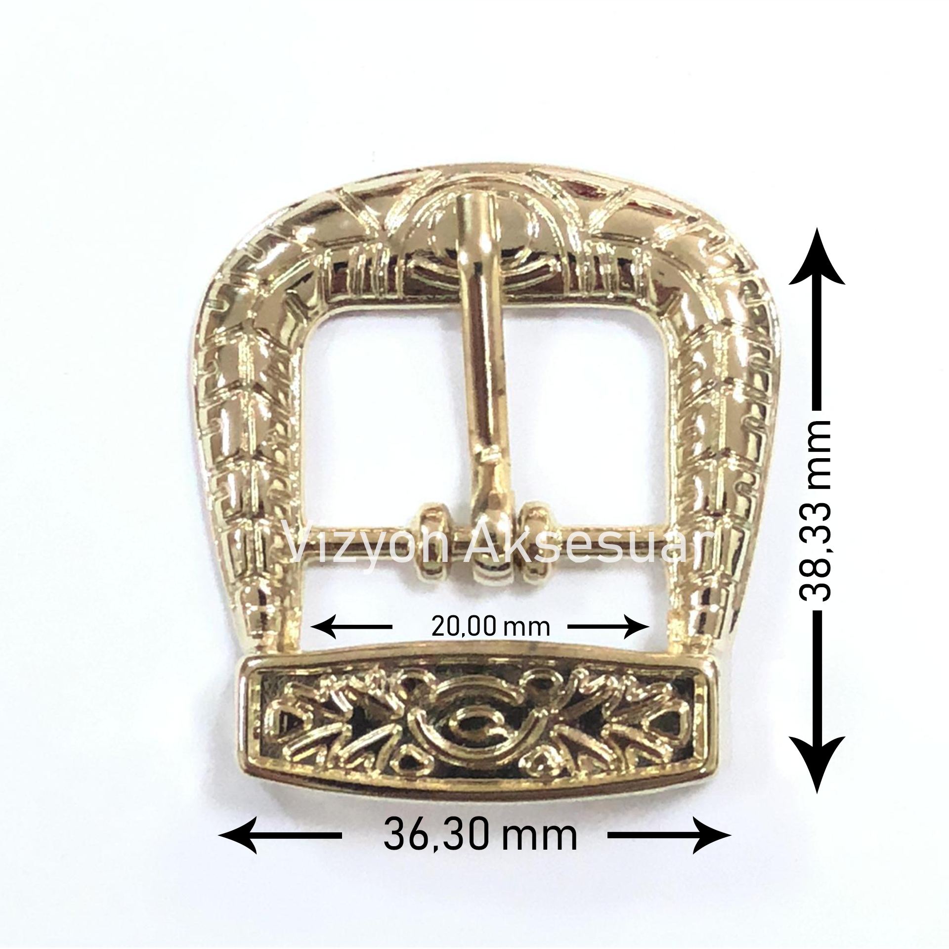 Metal Gold Plating Patterned Buckle