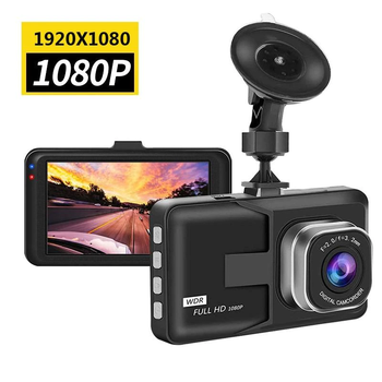 "Full HD 1080P Dash cam Video Recorder Driving For Car DVR Camera  3"" Cycle Recording Night Wide Angle Dashcam Video Registrar 1"
