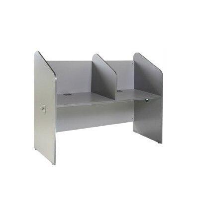 TABLE CALL DOUBLE ALUMINUM/GRAY SIZE 166x132x65CM (LENGTH X HEIGHT X DEPTH)