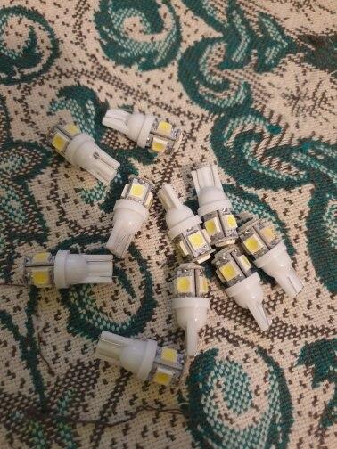 10PCS Led Car DC 12v Lampada Light T10 5050 Super White 194 168 w5w T10 Led Parking Bulb Auto Wedge Clearance Lamp|12v car led lamp|car light10pcs t10 led - AliExpress
