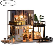 Model Doll House DIY  Cabin September Forest Handmade Creative Villa Architectural Assembled Toys.
