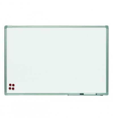 BLACKBOARD DOUBLE FACED WHITE LACQUERED WITH ALUMINUM FRAME 150X120cm