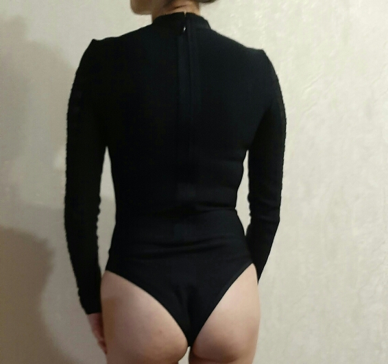 One Piece Bodysuit Women Spring Fashion Sexy Bodycon Bodysuit Long Sleeve Metal Ring Patchwork Mesh Bandage Bodysuits Women photo review