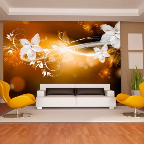 Photo Wallpaper-Flower Snowfall