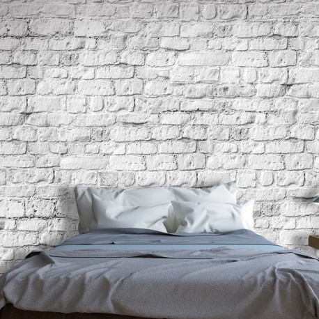 Photo Wallpaper-White Brick