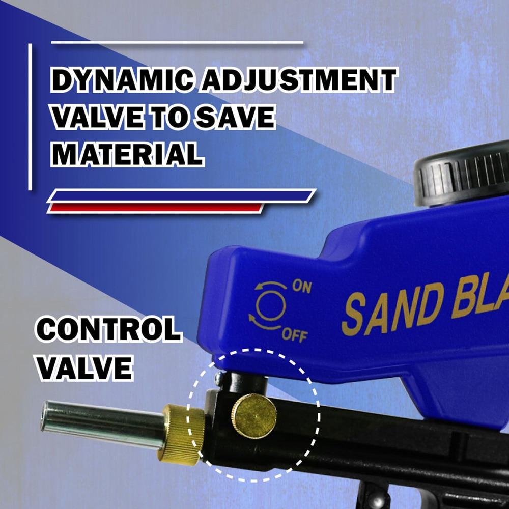 Купить с кэшбэком LEMATEC Sand blasting Gun Sandblaster with sand Abrasives sandblasting gun Taiwan Made High Quality portable sandblaster