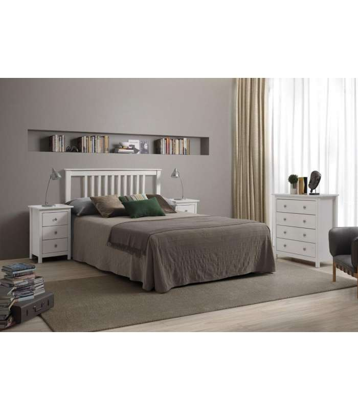 Headboard Tabac Solid Pine For 135 Bed Transluent White.