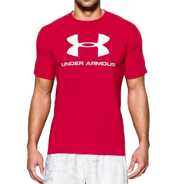 Men's Short Sleeve T-Shirt Under Armour 1257615-600 Red (Size L)