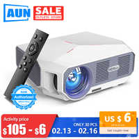 AUN projecteur MINI-projecteur ET10, 1280x720P HD, Luminosité de 3800 Lumens, Cinéma en 3D, Support 1080P (Version Android en option,