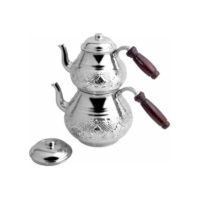 Turkish Handmade Copper Teapot Double Boiler 4