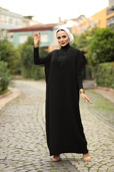 Women Long Dresses Muslim Sweater European Clothes 3Abaya Muslim Robe Hijabi Dress islam abaya turkey Moroccan Tagine autumn image