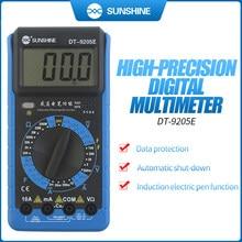 SUNSHINE Digital Multimeter DT-9205E AC/DC Voltage Current Resistance Capacitance Tester Handheld test instrument Power meter