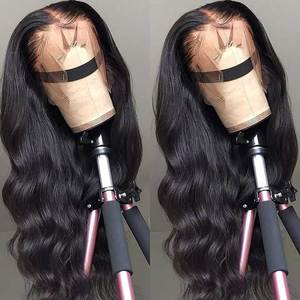 HD Transparent Lace Frontal Wigs 180 Density Wavy Body Wave Lace Front Wig 26 Inch Lace Front Human Hair Wigs Remy Brazilian Wig(China)