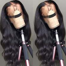 Lace Front Echthaar Perücken Transparente HD Lace Frontal Perücke 180 200 Density Lace Front Perücke Remy 13x4 Brazilian Body Wave Perücke(China)