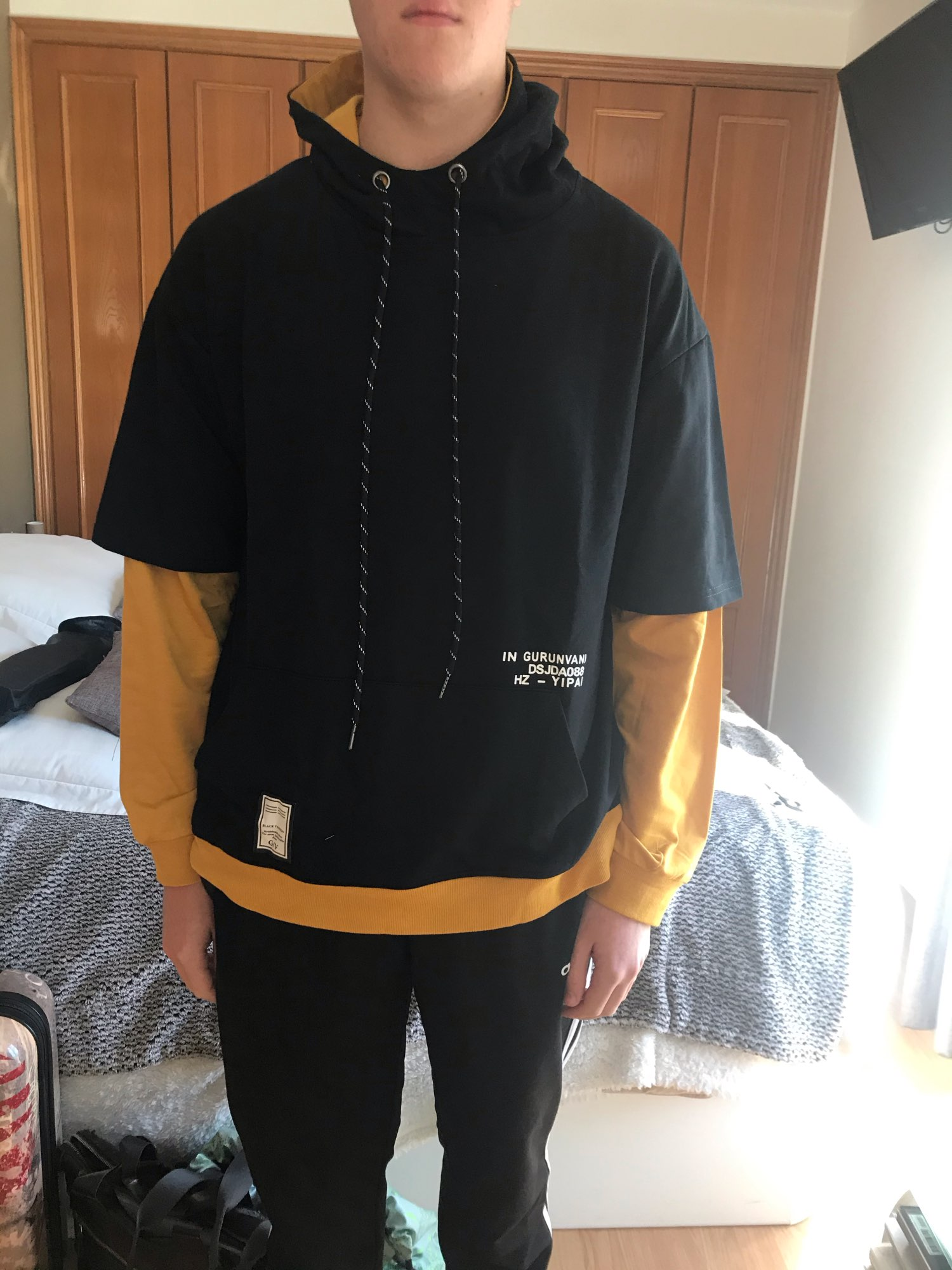 Multi-layer colorblock Hoodie photo review