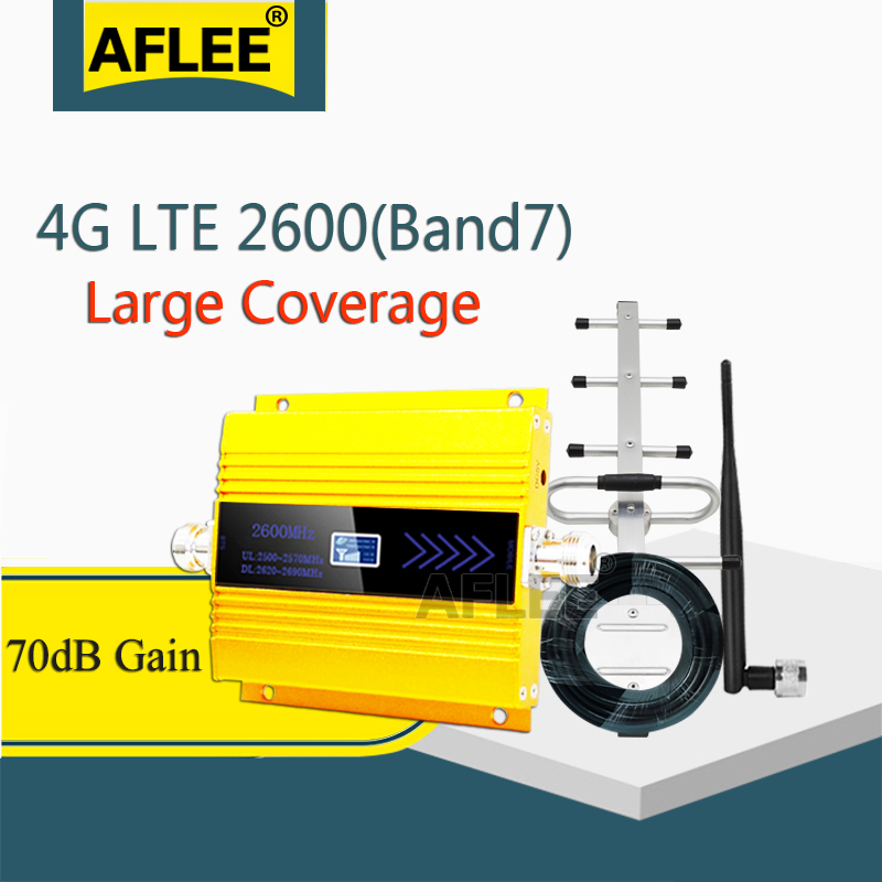 LTE 2600Mhz 4G Network CellPhone Cellular Amplifier (LTE Band7) 2600 4G Data Mobile Signal Booster 4G Amplifier GSM Repeater 4G