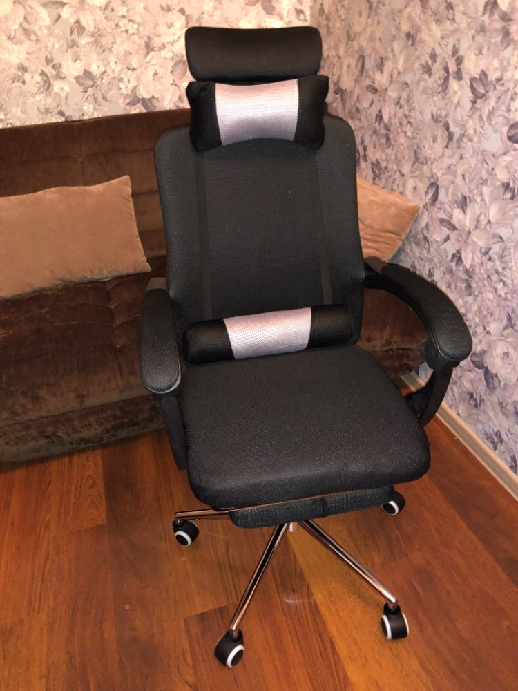 High quality mesh computer chair lacework office chair lying and lifting staff armchair with footrest free shipping-in Office Chairs from Furniture on AliExpress