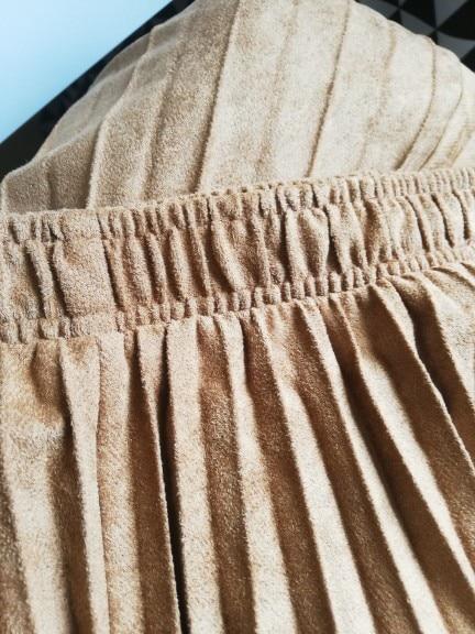 2021 Two Layer Spring Women Suede Skirt Long Pleated Skirts Top Brand Womens Saias Midi Faldas Vintage Women Midi Skirt|suede skirt|long pleated skirtspleated skirt - AliExpress