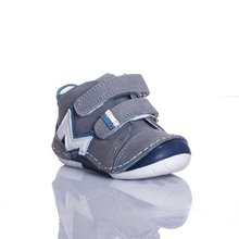 MyWondry Real Leather Grey M Boy Baby Anatomical First Step Shoes