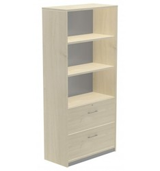 HIGH CABINET CARPETERO 195x90x45 STRUCTURE BEECH/FRONT HAS
