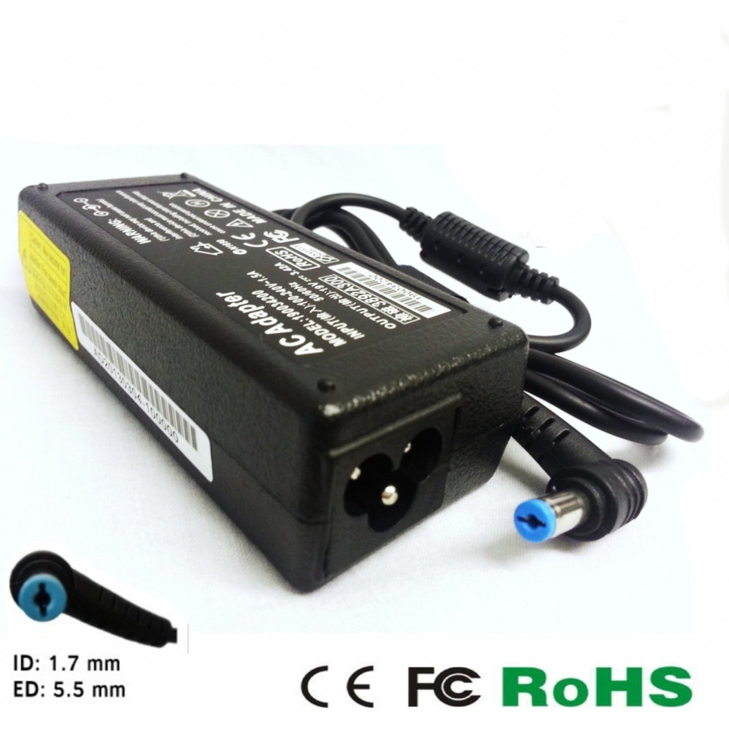 Replacement Acer 65W AC Adapter 19V 3.42A 5.5mm X 1.7mm replacement acer 65w ac adapter 19v 3 42a