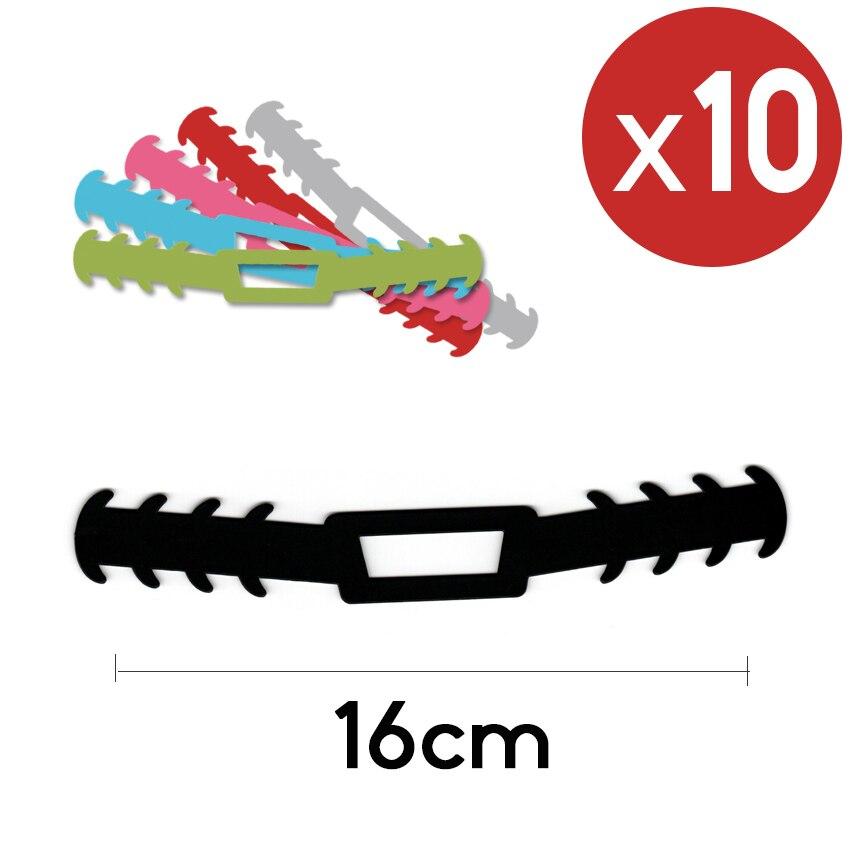 10 Unidades Negro (16cm)