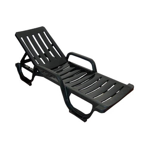 Lounger MALAGA, Armrest, 5 Position, Stackable Green Polypropylene Or Anthracite
