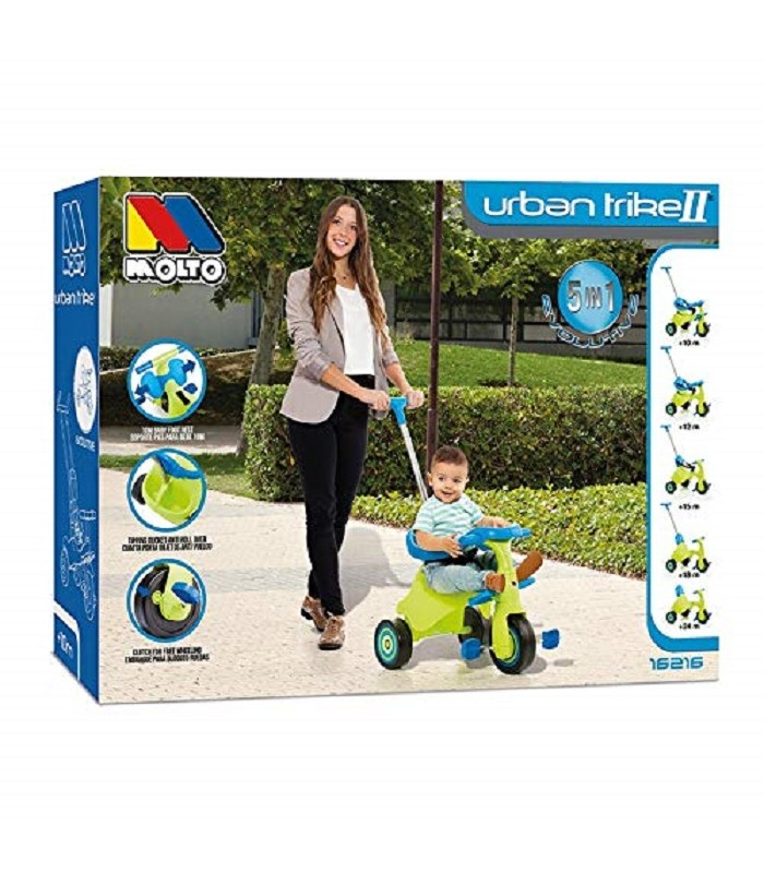 TRICYCLE URBAN TRIKE GREEN 5 IN 1 MOLTO