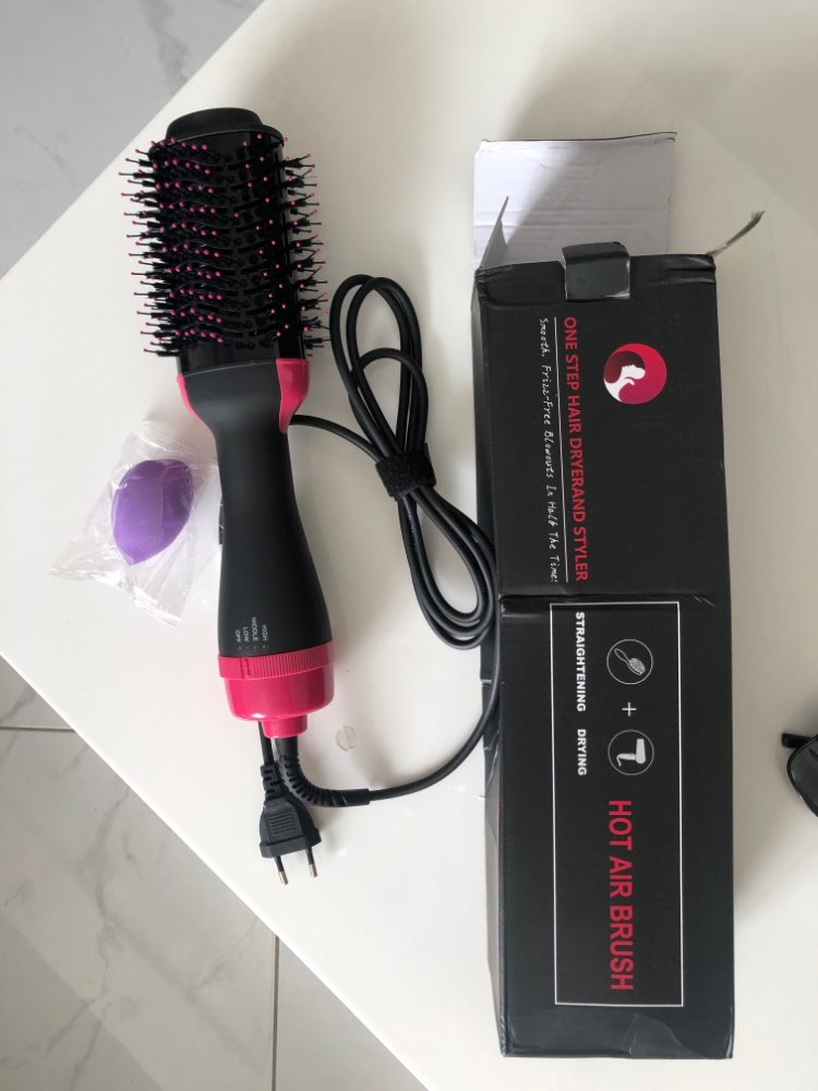 Chimpuk 2 IN 1 One Step Electric Hair Dryer and Hot Air Brush - Hair Straightener Curler Comb photo review