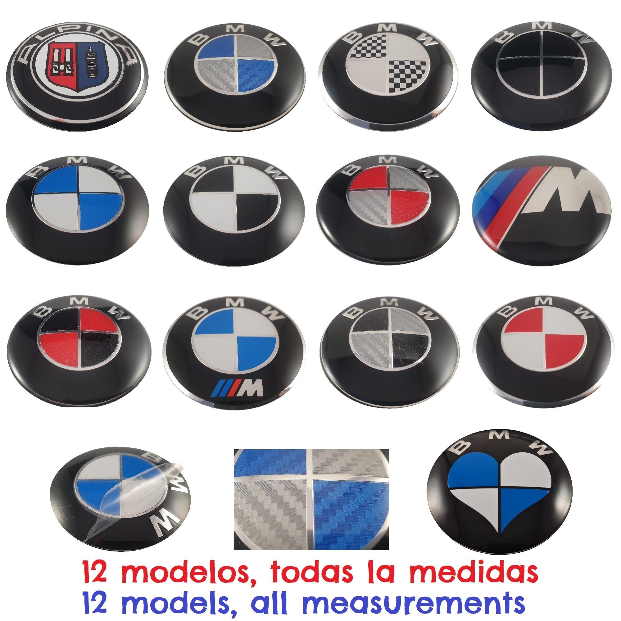 Logo BMW compatible 82mm 78mm 74mm 68mm 45mm 11mm para coche insignia emblema automovil (No es original de BMW) aut016