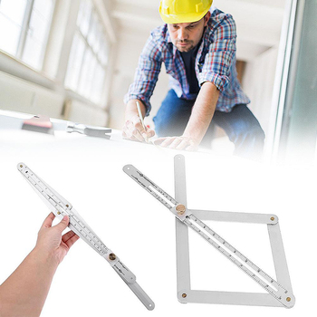 Bevel & Corner Protractor Carpenter Multi Angle Measuring Ruler Woodworking Goniometer Square Ruler Digital Angle Meter
