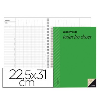 NOTEPAD ALL KINDS ADDITIO MONTHLY DISPOSITIONS COURSE EVALUATION CONTINUOUS And PROGRAMMING WEEKLY 22,5X31CM