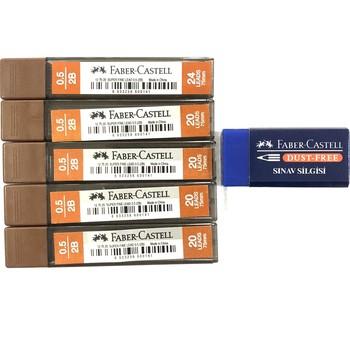 SERESSTORE Faber Castell 0 7mm i 0 5mm stalówka opakowanie 5 + gumka-artykuły papiernicze-ołówek automatyczny-artykuły szkolne-artykuły biurowe-ołówki-przybory szkolne-ołówek automatyczny-ołówek-kredki ołówkowe tanie i dobre opinie Faber-Castell DE (pochodzenie)