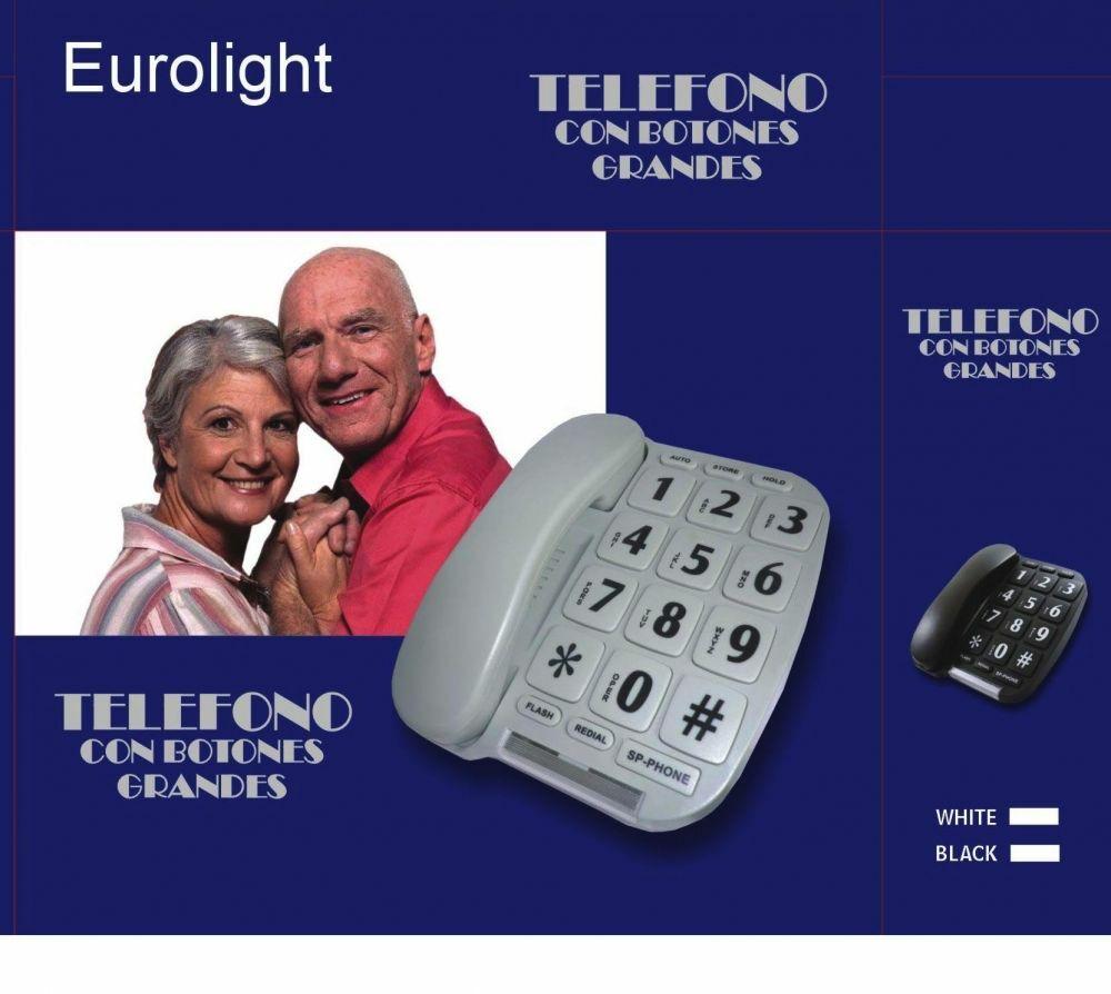 LANDLINE DESKTOP DIGITS KEYS BIG SENIOR 2 COLORS PHONE EUROLIGHT