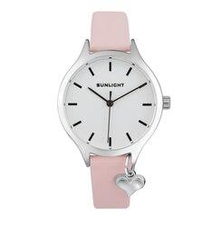 Vrouwen Horloge Met Hanger Op Lederen Riem Zonlicht