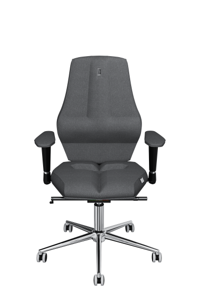Office Chair KULIK SYSTEM NANO Silver Computer Chair Relief And Comfort For The Back 5 Zones Control Spine