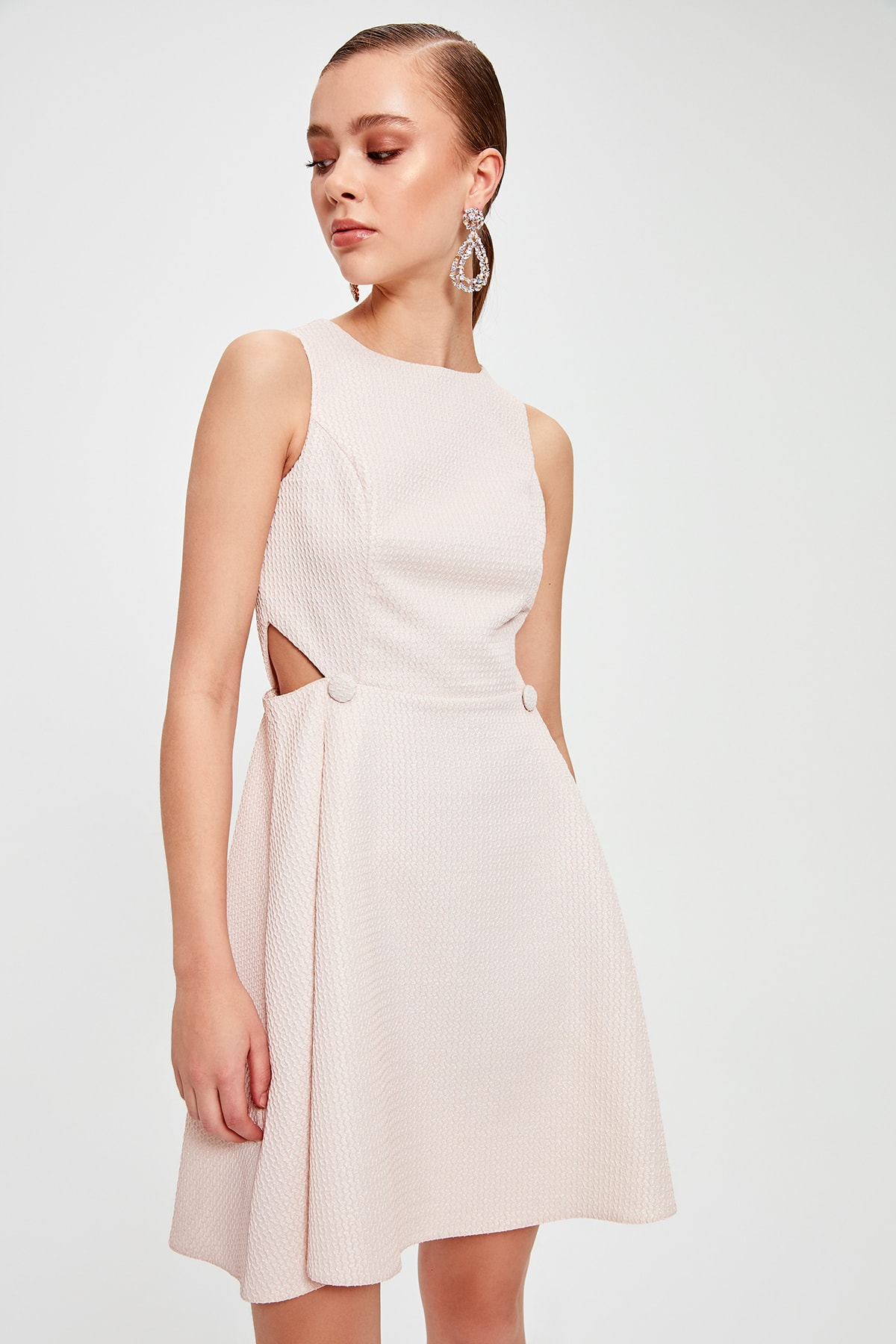 Trendyol Button Detail Dress TPRSS20EL0017