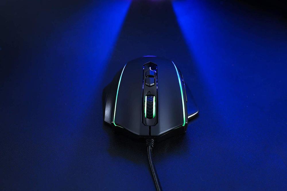 Image 5 - Игровая мышь Redragon M720 VAMPIRE RGB, проводная оптическая игровая мышь 10000 точек/дюйм, эргономичная Удобная ручка с макросъемкойМыши   -