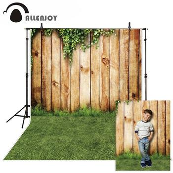 Allenjoy фотофоны Пасхальная трава парк плюща деревянная стена Весна фон для фотостудии фотосессия Фотофон