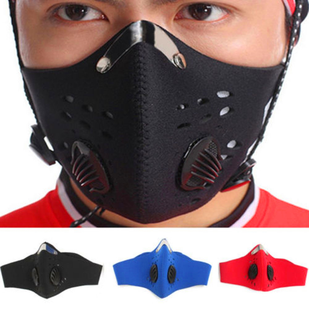 Cotton PM2.5 Outdoor Riding Mask Gas Filter Protection Face Dust Mask Head Respirator Protection Against Influenza Virus