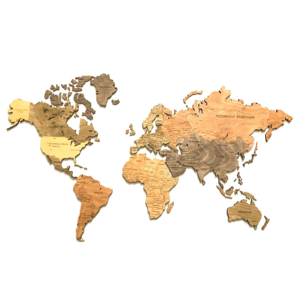 Mapa del mundo de madera, istolarka versión rusa, decoración de pared, decoración del hogar para la Oficina y la sala de estar JOYING LIANG clásico blanco 86 tres bandas un interruptor Rocker vías PC Panel 3 gang/1 Way toma de interruptor de pared eléctrica