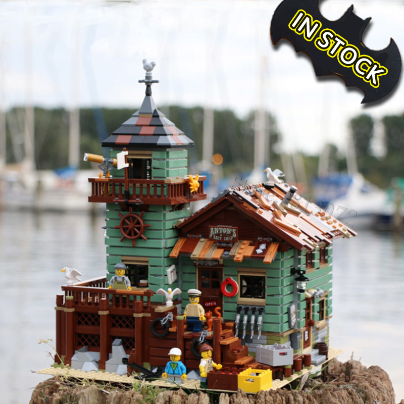 In Stock 16050 The Old Fishing Store 2109pcs  Compatible With 21310 City Creator Street View MOC Model Building Blocks Toys