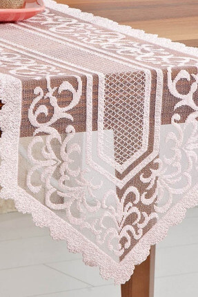 Pink Embrodery Tulle Rectangular Table Cover For Dining Room Small Kitchen Table Runner For Wedding Birthday Baby Shower