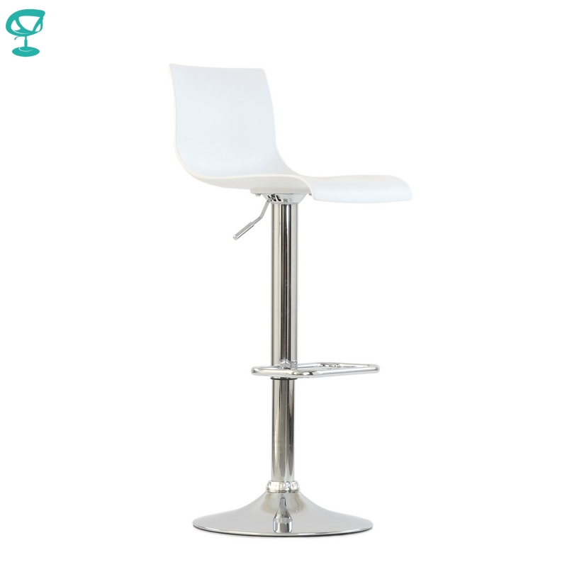 94666 Barneo N-262 High Plastic Kitchen Breakfast Bar Stool Swivel Bar Chair White Color Free Shipping In Russia