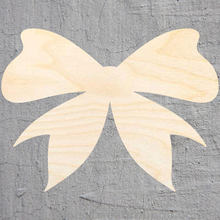bow silhouette Laser Cut Out Wood Shape Craft Supply Unfinished Cut Art Projects Craft Decoration Gift Decoupage Ornamente()