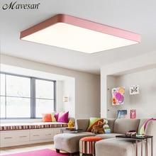 LED tavan ışık Modern tavan lambası aydınlatma armatürü oturma odası yatak odası mutfak yüzey montaj gömme uzaktan kumanda