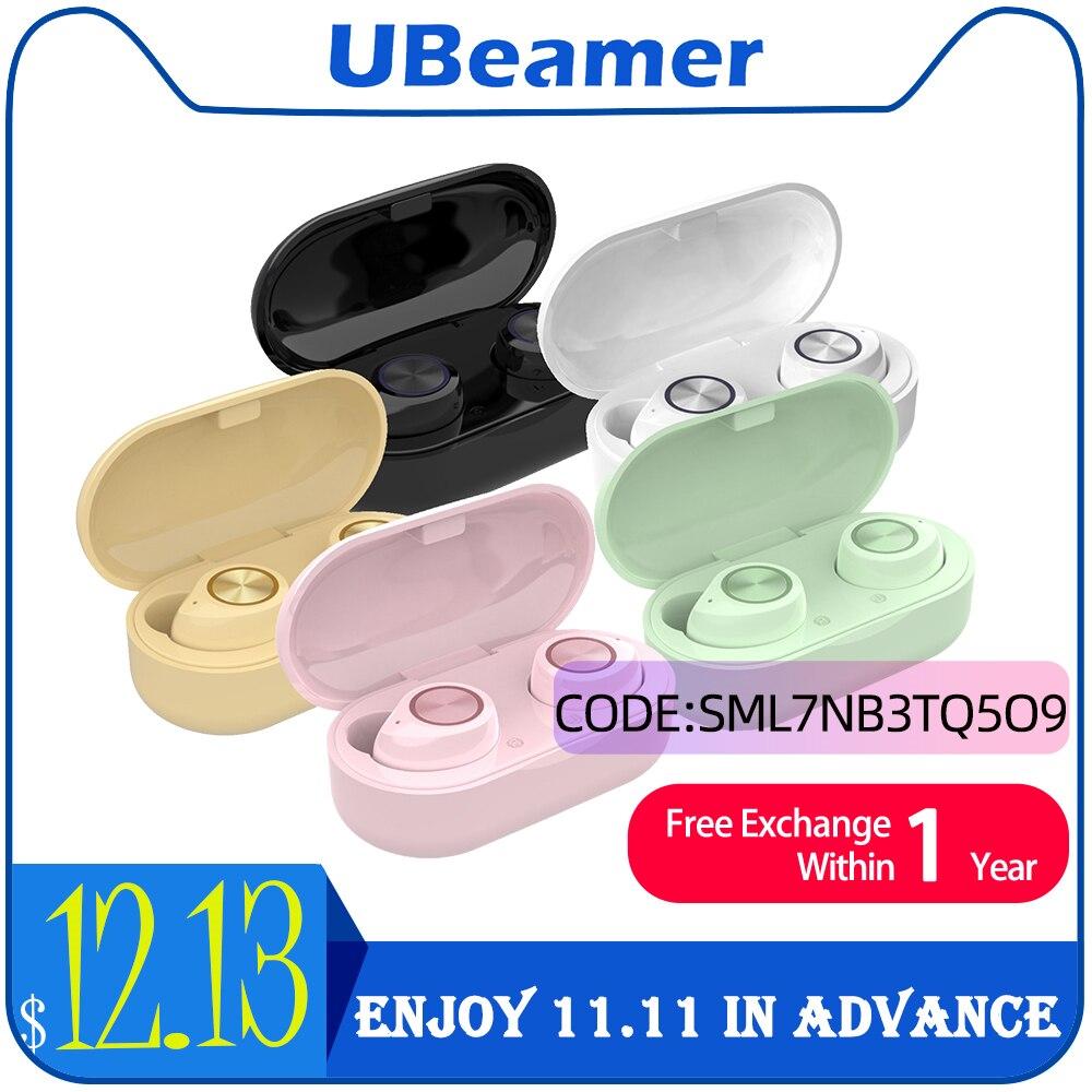 Ubeamer Macaron TWS Bluetooth Earphone True Wireless Earbuds In-Ear беспроводные наушник Headphone Best Human Headset For Xiaomi