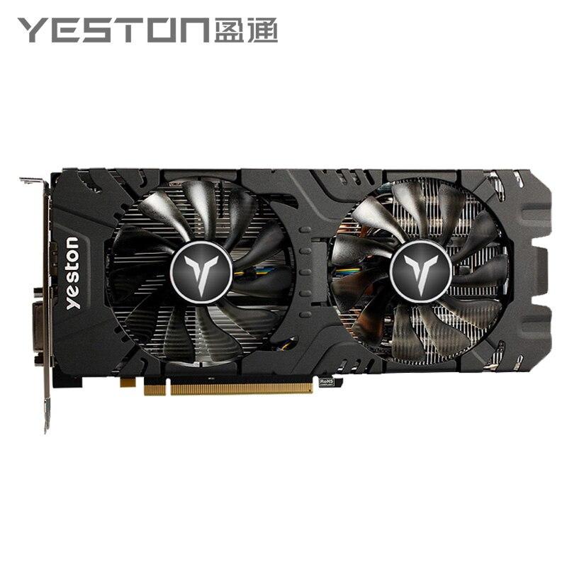 Yeston Radeon RX 580 GPU 8GB GDDR5 256bit ordinateur de bureau de jeu PC cartes graphiques vidéo support DVI-D/HDMI PCI-E X16 3.0