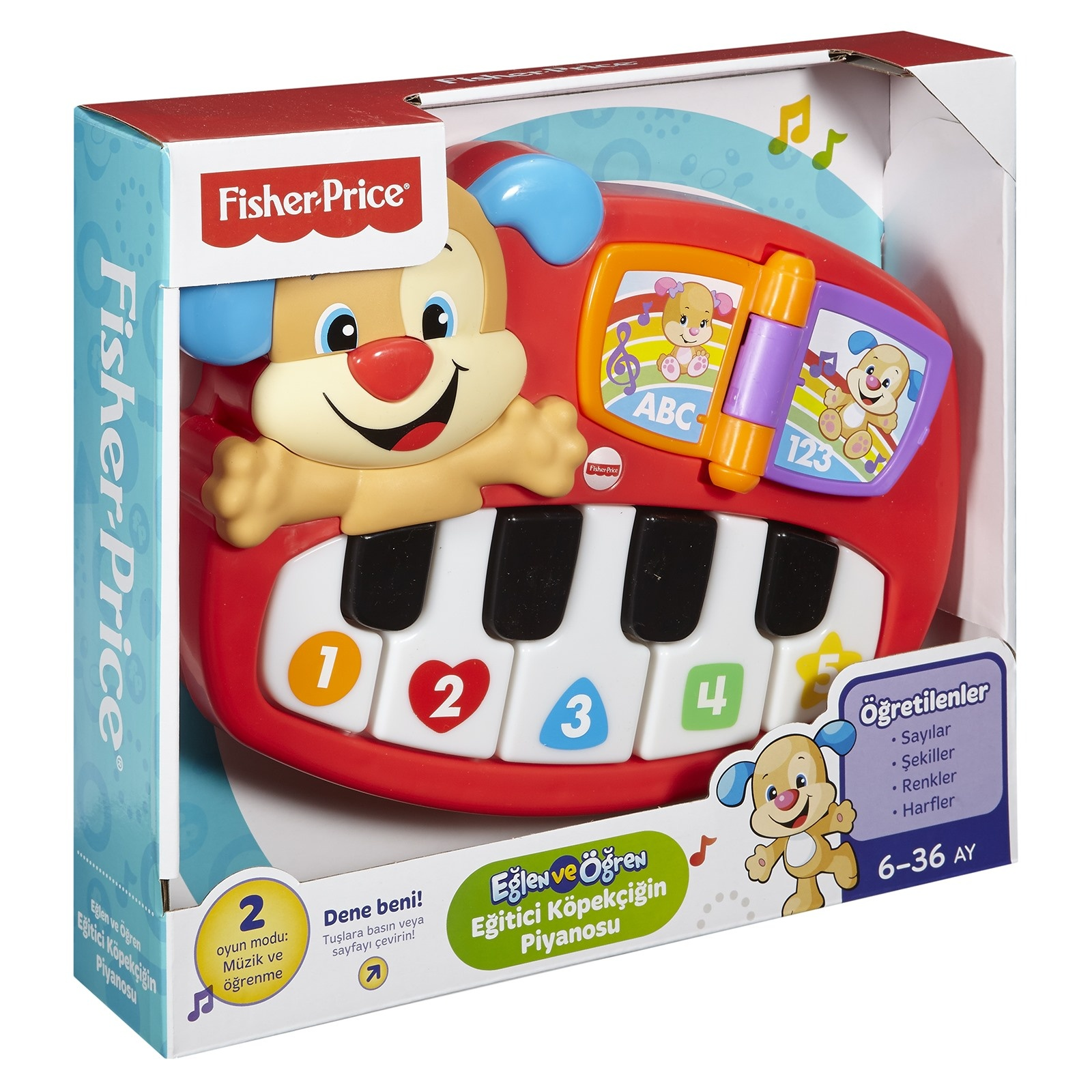 Ebebek Fisher Price Educational Puppy Piano - Turkish
