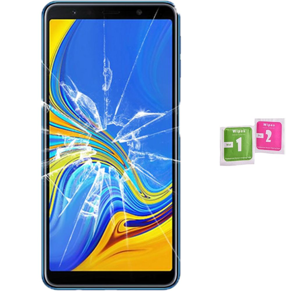Screen Protector Tempered Glass Vidrio Para For SAMSUNG GALAXY A7 2018 (Generico, Not Full
